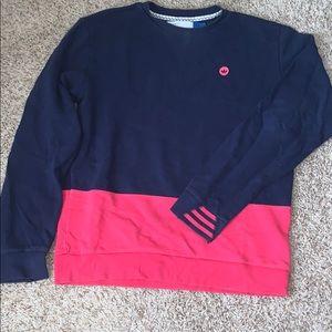 Color block adidas original sweatshirt